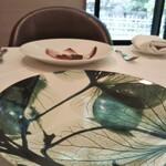 ル・マルカッサン ドール - 紫陽花の葉脈をプリントしたお皿。おしゃれでスタイリッシュ!
