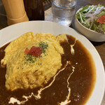 ローリエ - オムライス(牛肉と玉ねぎのハヤシソース)