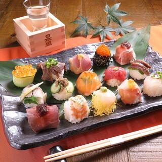 《当店おすすめ》ころっとまん丸!厳選鮮魚使用の「手まり寿司」