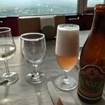 ぶどうの丘 展望ワインレストラン - GI山梨ワイン800円→400円勝沼地ビール(中瓶500ml)900円(税抜)