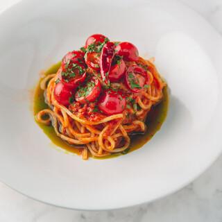 【夏季限定】真夏を彩る「完熟トマトの冷製アラビアータ」
