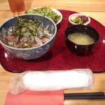 尊 - 枕崎かつおの柚子塩丼\900