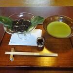 133558554 - わらび餅、抹茶