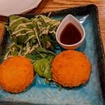大衆割烹TAKEYA - 牡蠣クリームコロッケ