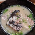 大衆割烹TAKEYA - ウメイロのアラの味噌汁