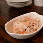 フーゴー - 特製ポテトサラダと焼きサバのスモーク@500円