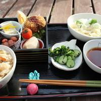 カフェトゥーリー - 手打ちうどんの和食膳セット(*^_^*)コーヒーor紅茶付き(^^)