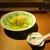 """もと井 - 料理写真:青茄子と ほたてフライ: 青茄子は """"トロ茄子"""" とも呼ばれ、トロトロ食感に 揚げ煮してあります。その上には、中がレアに揚げられた ほたてフライ がのせられ 美味しい餡が枝豆と共にかけられています。     2020.07.18"""