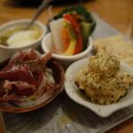 あさり食堂 - 前菜5種盛り合わせ