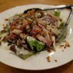 あさり食堂 - ベーコンとキノコのシーザーサラダ
