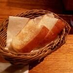 ワインの酒場。ディプント - お通しのパン:280円+税