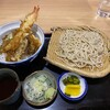 上むら - 料理写真:天丼セット(冷たい蕎麦)