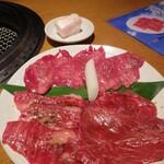 肉亭 ナカムラ - タン塩・カルビ・ロース(肉亭ランチ)