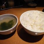 肉亭 ナカムラ - ライス・スープ(肉亭ランチ)