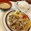 洋庖丁 - 料理写真:からし焼肉ランチ大
