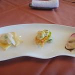豊永 - 今回の前菜は平目の三種盛り合わせ(6月)
