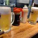 133610553 - お好み焼きには、ビールでしょう☆☆