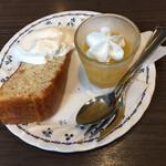 オランダ坂珈琲邸 - 御膳のセットデザート