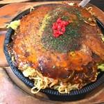 お好み焼若あゆ - 料理写真:もだん焼きダブル 肉・玉子いり 730円