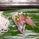 すし処 會 - 東京湾で獲れる鯵