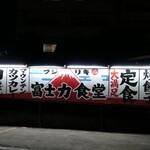 三珍 富士力食堂 - (2020/6月)駐車場横の壁