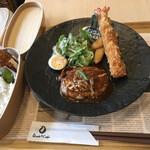 ダイニング サロン オサキ和カフェ - オサキランチA+わっぱご飯・カキフライ