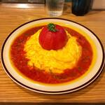 サンバード - 料理写真:丸ごとトマトのオムライス 1日限定5食