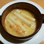 13363804 - ホワイトアスパラガスのパルミジャーノたっぷりチーズ焼き パルマ風