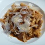 13363867 - 色々なショートパスタ じっくり煮込んだ牛ほほ肉とポルチーニ茸の赤ワインソース