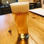 酒菜と炭 てりや - 生ビール