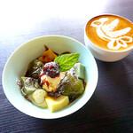 CAFE食堂.キズナ - もっちもち京パフェ
