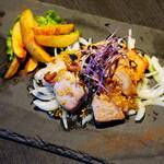 CAFE食堂.キズナ - 【ディナーセット】樽前湧水豚のオーブン焼き