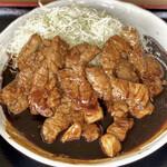 あかつき食堂 - 料理写真:大とんてき定食(肉1.6倍)