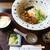 長生庵 - 料理写真:ぶっかけ肉玉うどんとライス中