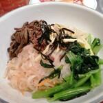 上野太昌園 - Cセットのビビンバ ご飯がモリモリ
