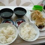 13366874 - 餃子W定食とご飯