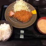 とんかつ瓢 - 上ロースかつ定食1600円
