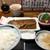 和食 しら田 - さば味噌煮とまぐろぶつ950円