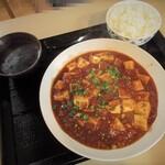 四川家庭料理 楊 八戸 - 四川麻婆豆腐980円+白飯200円