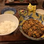chuukashunsaimorimoto - 麻婆豆腐ランチ1,100円(税込)