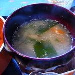 香茶庵 - 香茶庵セットの味噌汁♪2009/3