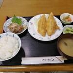 港のごはんやさん - アジフライ定食(なめろ)1200円
