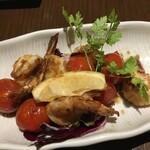 バリヤン - プチトマト海老炒め