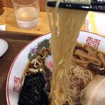 めん処 さんば - 東京醤油ラーメン750円の麺
