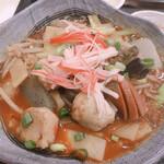 華龍飯店 神保町 - 野菜煮込みのアップ
