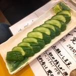 復興居酒屋がんばっぺし - 胡瓜の一本漬け380円