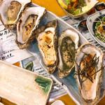 復興居酒屋がんばっぺし - 牡蠣グリルの食べ比べ2300円