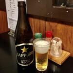 うなぎ赤垣 - 瓶ビール