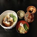 うなぎ赤垣 - うざく、浦霞熱燗、鰻丼のお新香