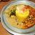 旧ヤム鐵道 - 料理写真:あいがけカレー(左のポットはヤムカレーという物)